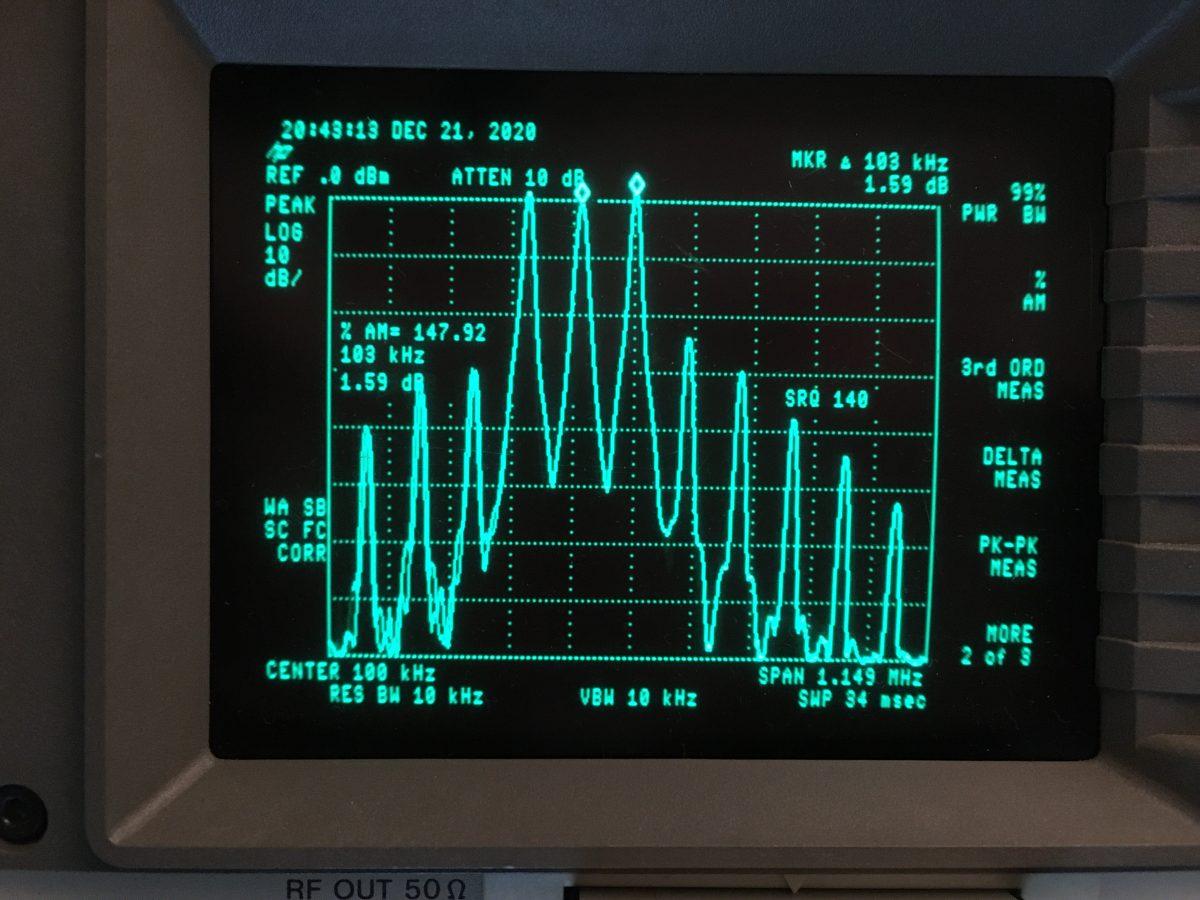 HP 8591A spectrum analyzer